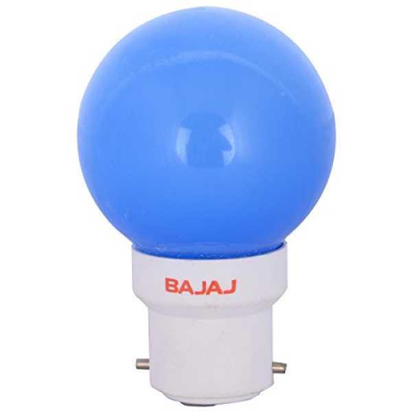 Bajaj 0.5W B22 LED Bulb (Blue) - Blue