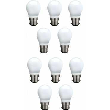 Syska 3 W B22 QA0301 LED Bulb White Pack of 10