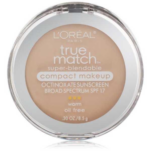 Loreal Paris  True Match Super Blendable Compact Makeup Foundation (Porcelain)