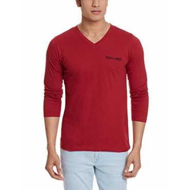 Men s Cotton T-Shirt 8902733331715_OS7_Red_M