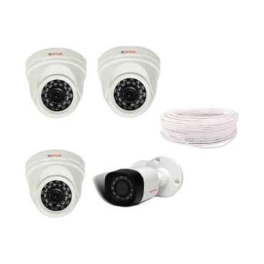CP PLUS 1(CP-USC-TA10L2) Bullet, 3(CP-VCG-SD10L2)  Dome Cameras