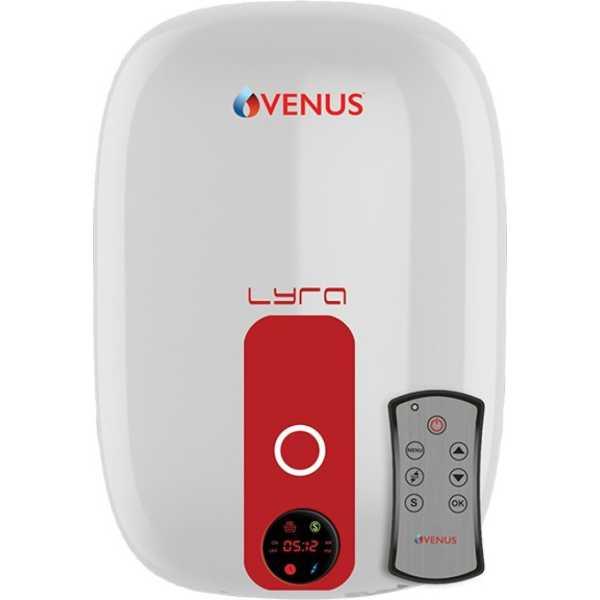 Venus Lyra Digital 15RD 15 Litre Storage Water Geyser - White | Red