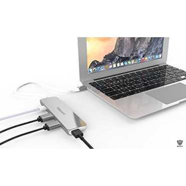 MoArmouz Aluminum Type-C 3 Port USB Adapter - Gold