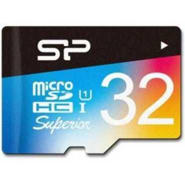 Silicon Power SP032GBSTHDU1V20EU 32GB Class 10 MicroSDHC Memory Card