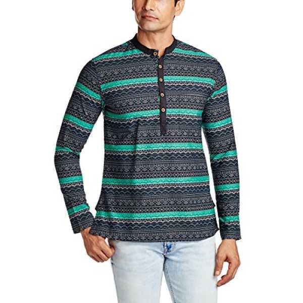 Men's Cotton Kurta Pyjama (8907306882748_PO51581408_Blue and Green_38)