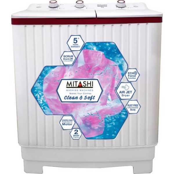 Mitashi 6.2kg Semi Automatic Top Load Washing Machine (MISAWM62V25 AJD) - White
