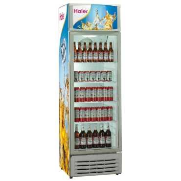 Haier HVC-220G 220 L 5 Star Single Door Visi Cooler Refrigerator - White