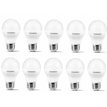 Crompton Led Pro 5W Standard E27 430L LED Bulb (White,Pack of 10) - White