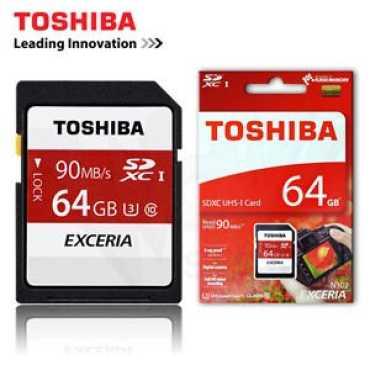 Toshiba Exceria 64GB 90MB s SDXC UHS-1 Class 3 Memory Card