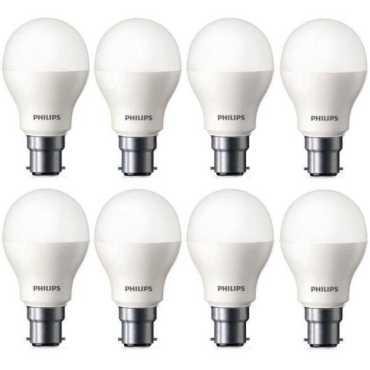 Philips 9W Standard B22 825L LED Bulb White Pack of 8