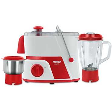 Maharaja Whiteline Easy Lock 550W Juicer Mixer Grinder (3 jars) - Red