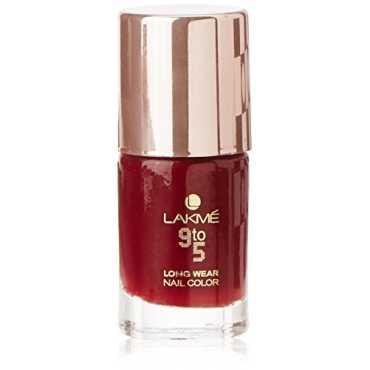 Lakme  9 to 5 Long Wear Nail Enamel (Red Alert) - Red