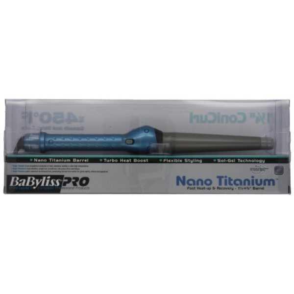 Babyliss Pro BABNT125TB (1.14 Inch) Curling Iron - Titanium