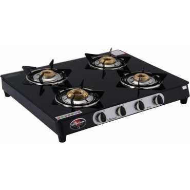 Surya Flame Glaze SFBL-GL-1484B 4 Burner Gas Cooktop - Black