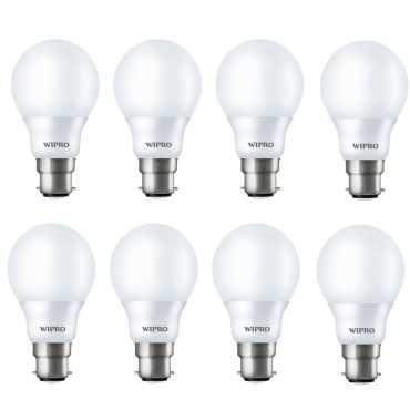 Wipro Garnet 9W B22 LED Bulb White Pack of 8