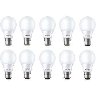 Wipro Garnet 7W B22 LED Bulb (Yellow, Pack of 10) - Yellow | White