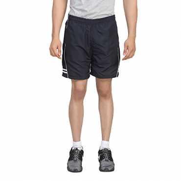 Trotters Men's Sports Shorts-TTJ1SHORTS_AD_BLACK_WHT_L
