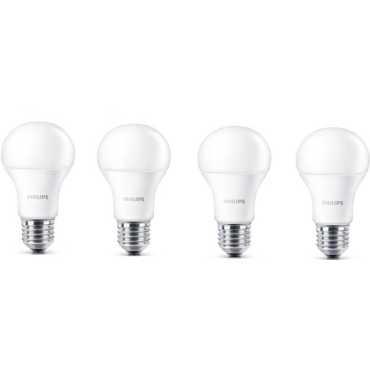 Philips Stellar Bright 12w Standard E27 1200L LED Bulb White Pack of 4