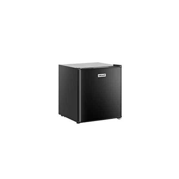 Kitchoff 50L Aluminium & Solid Door Mini Refrigerator - Black