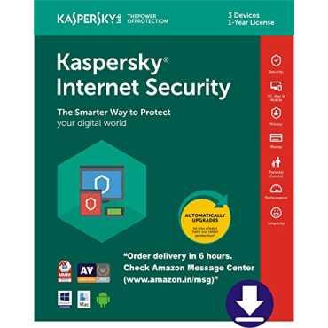 Kaspersky Internet Security 3 PC 1 Year Antivirus (Key Only)