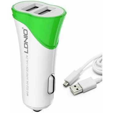 LDNIO C331 3.4A Dual USB Car Charger - White