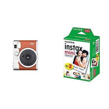Fujifilm Instax Mini 90 Neo Classic Instant Film Camera (With 20 Shot Films)