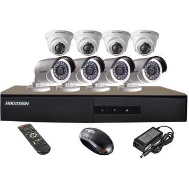 Hikvision DS-7208HGHI-E1 8CH Dvr 4 DS-2CE56COT-IR Dome 4 DS-2CE16COT-IR Bullet Cameras Mouse Remote Adpter