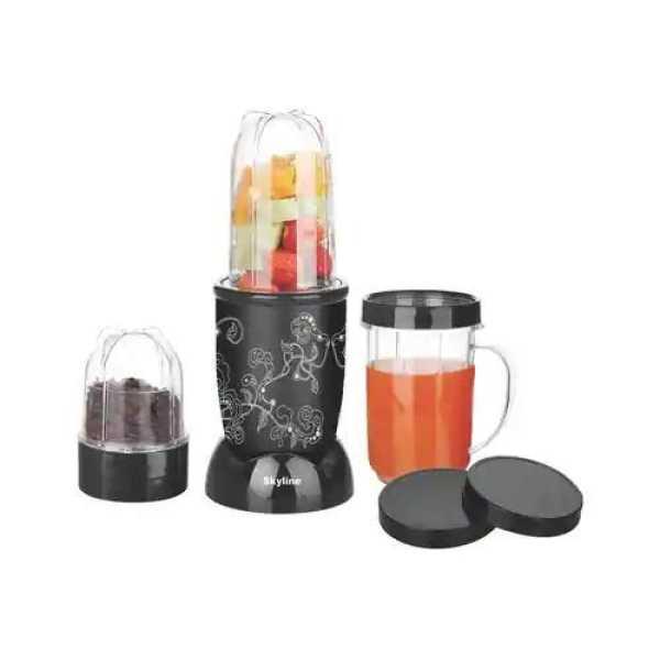 Skyline Nutri Blend 400W Mixer Grinder (3 Jars) - Black