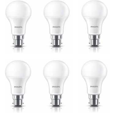Philips Stellar Bright 12W Standard B22 1200L LED Bulb (White,Pack of 6) - White