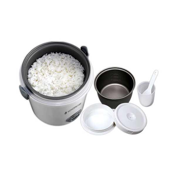 Wonderchef 0.5 Litre Mini Rice Cooker - Silver