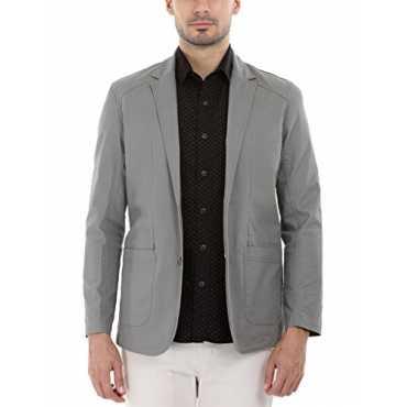 Men's Suave Twill Casual Blazer(51139A_Grey Twill_X-Small)