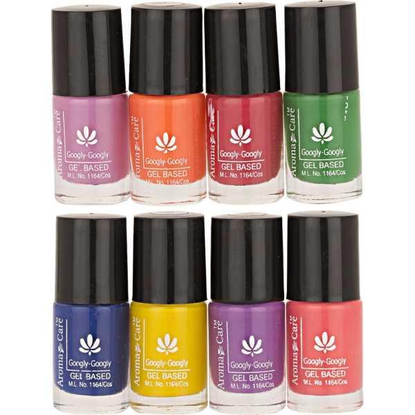 Aroma Care Mab Nail Polish 02-03 (Multicolor) (Set of 8)