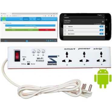 Smarteefi SE315A WiFi 3 Strip Surge Protector (1.5 Mtr) - White