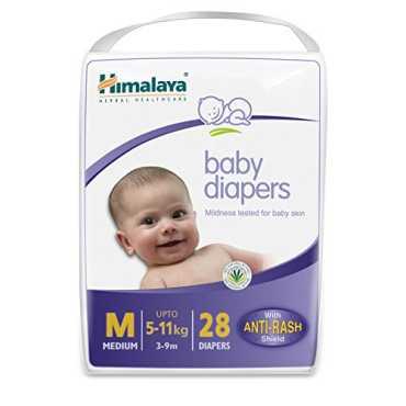 Himalaya Baby Diapers Medium (28 Pieces) - White