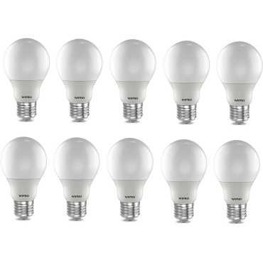 Wipro Garnet 5W E27 LED Bulb (Warm White, Pack Of 10) - Yellow | White