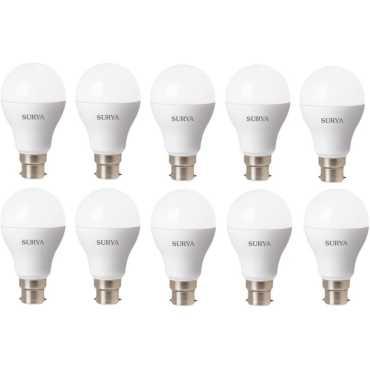 Surya 5W White 450 Lumens LED Bulbs (Pack Of 10) - White