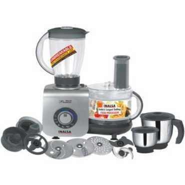 Inalsa Maxie Premia 800W Food Processor - Silver | Black
