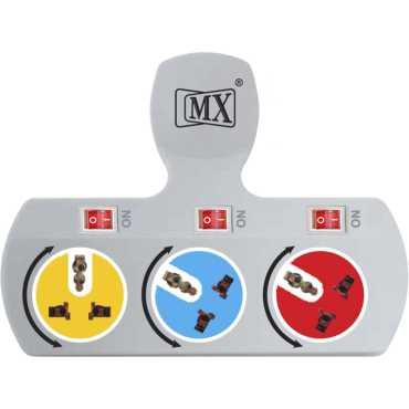 MX 3477A 3 Socket Spike Surge Protector