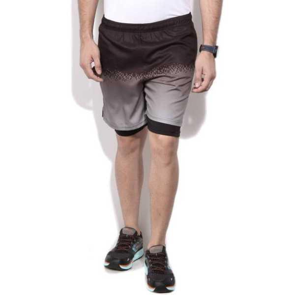 Fila Printed Men's Black Basic Shorts