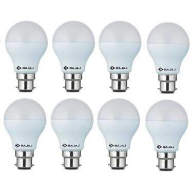 Bajaj 3W  B22 Round LED Bulb (White, Pack of 8) - White
