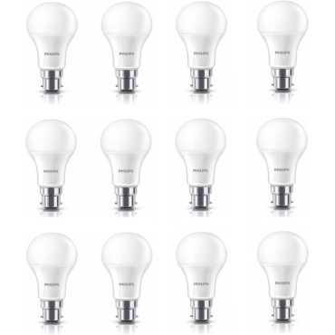 Philips Stellar Bright 12W Standard B22 1200L LED Bulb White Pack of 12
