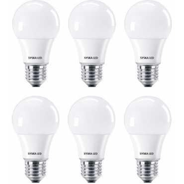 Syska SSK-SRL-7W 7W E27 LED Bulb (White, Pack of 6) - White