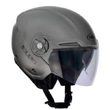 Lazer Bolero LX Open Face Motorbike Helmet (Small) - White | Grey | Black