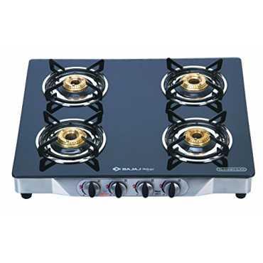 Bajaj Majesty CGX-4 Gas Cooktop (4 Burner) - Black