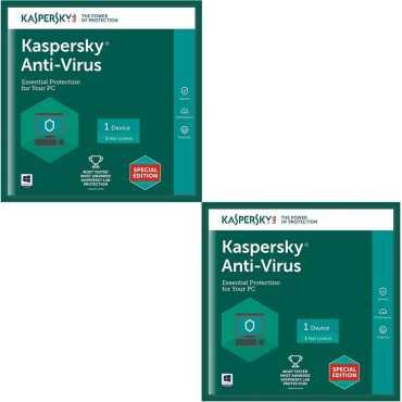 Kaspersky Antivirus 2017 2PC 1 Year Antivirus