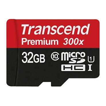 Transcend Premium 400x 32GB MicroSDHC Class 10 (60MB/s) UHS-1 Memory Card