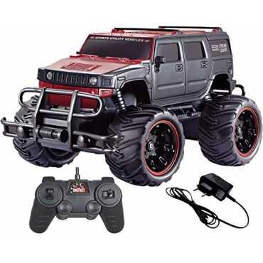 MousePotato 1:20 Rock Crawler Monster Truck Racing Car Rechargeable (Red-02)