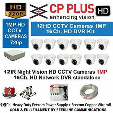 CP PLUS CP-UVR-1601C1 16-Channel HD Dvr 16(CP-VCG-SD10L2) Dome Camera (With Accessories) - White