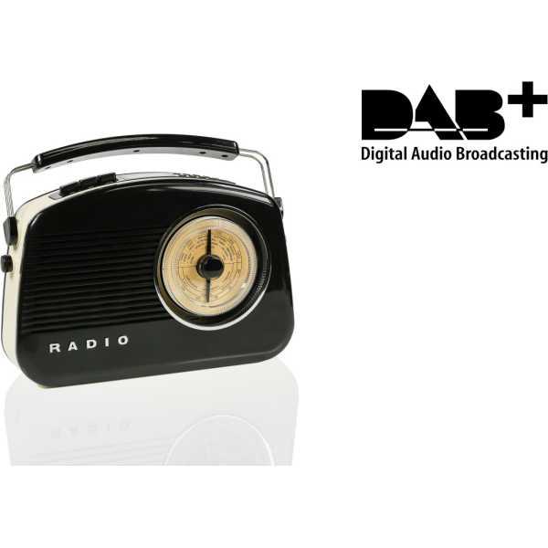 Konig Steepletone 2 DAB+ Retro FM Radio - Black