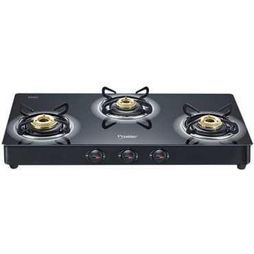 Prestige Royale Plus GT 03 Gas Cooktop (3 Burner) - Black